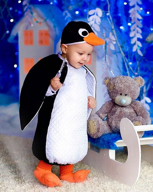 Костюм пингвиненка на ребенка. Очень симпатично