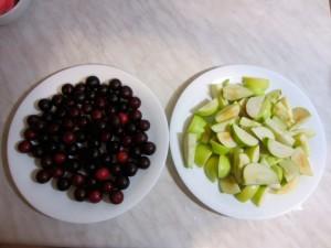Алыча и яблоки
